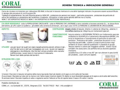 scheda tecnica facciale tessuto